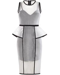 Forever Unique - Luxe Sport Peplum Dress - Lyst