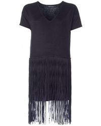 French Connection - Spotlight Fringed Dress - Lyst