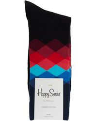 Happy Socks - Faded Diamond Socks - Lyst