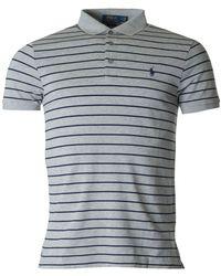 Polo Ralph Lauren - Short Sleeved Striped Slim Polo - Lyst