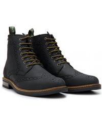faadea5ae0e Barbour Belsay Leather Brogue Boots in Brown for Men - Lyst