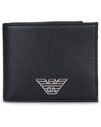 Armani Jeans - Eagle Badge Bilfold Wallet - Lyst