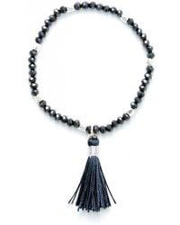 Olia Jewellery - Zoe Fabric Tassel Bracelet - Lyst