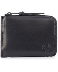 Fred Perry - Contrast Leather Zip Around Wallet - Lyst