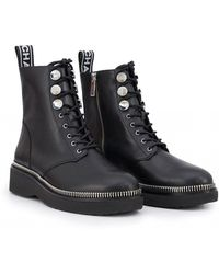 53bfcc9be6d Michael Kors - Tavie Tape Logo Lace Up Ankle Boots - Lyst
