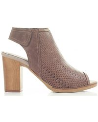 Moda In Pelle - Cut Out High Vamp Heeled Sandals - Lyst