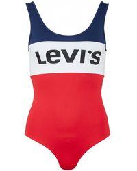 Levi's - Color-blocked Logo Bodysuit - Lyst