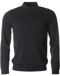 BOSS Black - Banet-b Long Sleeved Knitted Polo - Lyst