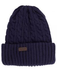 Barbour - Balfron Cable Knit Beanie Hat - Lyst