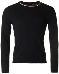HUGO - Sabo Tipped Crew Neck Knit - Lyst