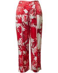 Saint Tropez - Flower Print Trousers - Lyst