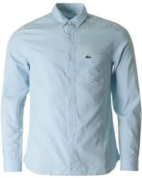 Lacoste L!ive - Long Sleeved Skinny Fit Oxford Shirt - Lyst