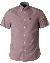 Fred Perry - Classic Gingham Short Sleeved Shirt - Lyst