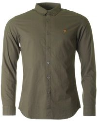 Farah - Leon Cotton Poplin Shirt - Lyst