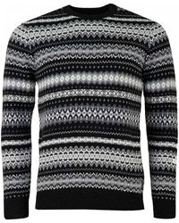 Barbour - Case Fairisle Crew Neck Knit - Lyst
