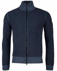 712f92e6ca46 BOSS by Hugo Boss - Afurly Full Zip Through Wool Knit - Lyst