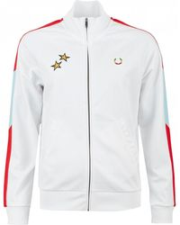 Fred Perry Contrast Stripe Track Jacket - White