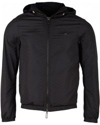 Armani - All Over Eagle Reversible Jacket - Lyst