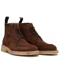 Tricker's - Leo Suede Crepe Sole Boots - Lyst