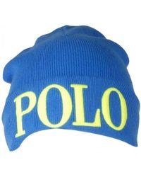 Polo Ralph Lauren - Large Polo Logo Cuff Beanie Hat - Lyst