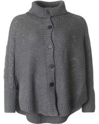 UGG - Cosy Chunky Button Through Poncho - Lyst
