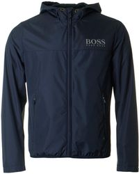 BOSS Athleisure - Jeltech Reflective Logo Hooded Jacket - Lyst