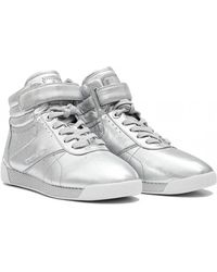d7d68dabd2a Michael Kors - Addie Metallic Leather High Top Trainers - Lyst