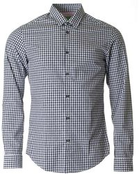 BOSS Athleisure - C Bustai Long Sleeved Gingham Shirt - Lyst