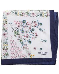 Ted Baker | Uniflag Flag Pocket Square | Lyst