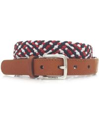 Tommy Hilfiger | Bliss Braided Leather Belt | Lyst