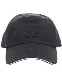 8a703a73b22 C P Company Mens Basic Cap Black in Black for Men - Lyst