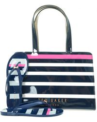 Ted Baker - Striped Icon Flip Flop Bag Set - Lyst