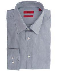 HUGO - Elisha Fine Stripe Slim Fit Shirt - Lyst