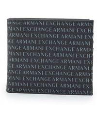 Armani Exchange - All Over Bilfold Wallet - Lyst