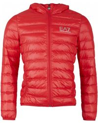 EA7 - Packaway Hooded Jacket - Lyst