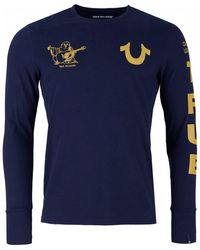 True Religion - Long Sleeved Multi Logo - Lyst