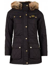 Barbour - Enduro Detachable Hood Quilted Parka - Lyst