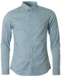 Farah - Steen Oxford Shirt - Lyst
