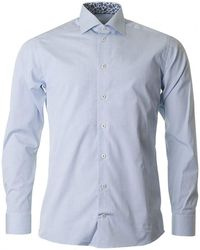 Eton of Sweden - Contrast Collar Micro Check Shirt - Lyst