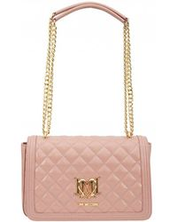 Moschino - Classic Logo Quilted Shoulder Bag - Lyst