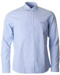 HUGO - Evory Logo Long Sleeved Oxford Shirt - Lyst