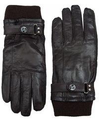 Paul Smith - Rib Cuff Leather Gloves - Lyst