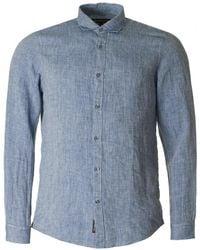 Michael Kors - Slim Yarn Dye Linen Shirt - Lyst