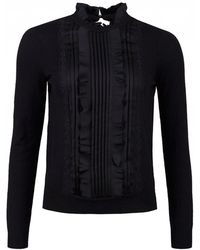 Ted Baker - Paygeei Ruffle Front Detail Knit - Lyst