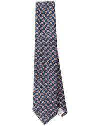 Eton of Sweden - Small Paisley Silk Tie - Lyst