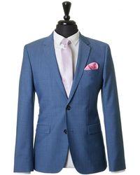 HUGO - Astian Hets Pindot Wool Suit - Lyst