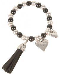Olia Jewellery - Loretta Stretch Tassle Bracelet - Lyst