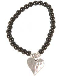 Olia Jewellery - Rita Beaded Heart Bracelet - Lyst