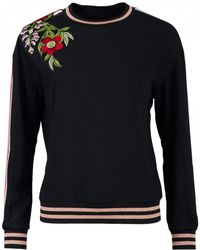 Ted Baker - Maddeyy Embroidered Trim Sweat - Lyst