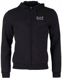 EA7 - Train Logo Series Big Logo Zip Sweat - Lyst